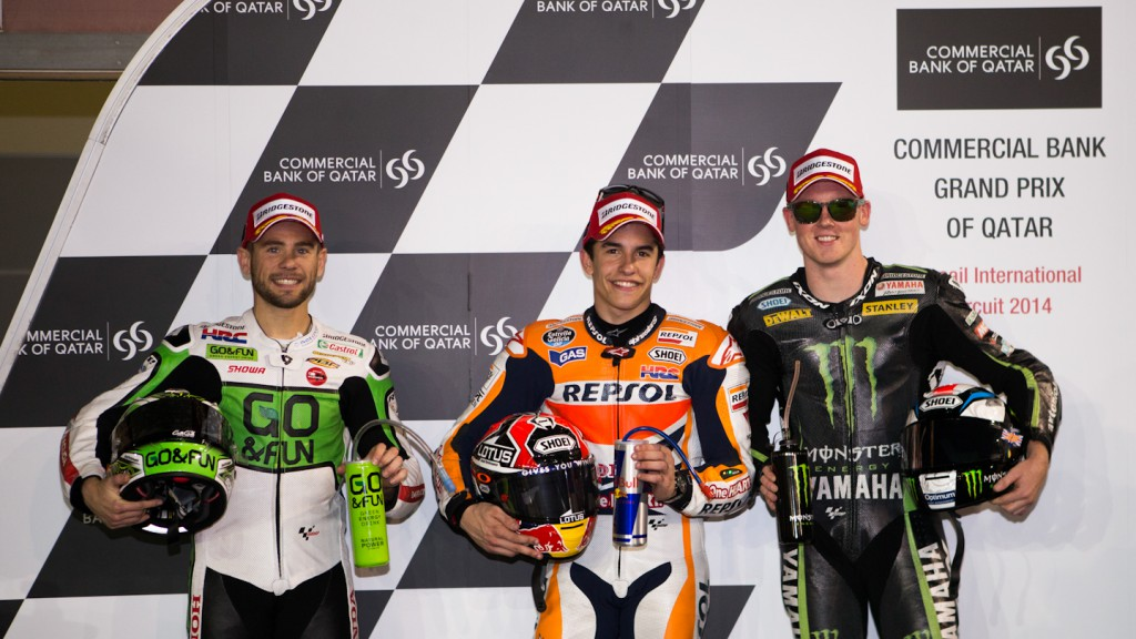 Bautista, Marquez, Smith, GO&FUN Honda Gresini, Repsol Honda Team, Monster Yamaha Tech 3, QAT Q2