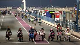 The Commercial Bank Grand Prix of Qatar Moto3™ qualifying session saw Alex Rins secure pole position for the first race of 2014, with his Estrella Galicia 0,0 teammate Alex Marquez and Jack Miller (Red Bull KTM Ajo) joining him on the front row of the grid.