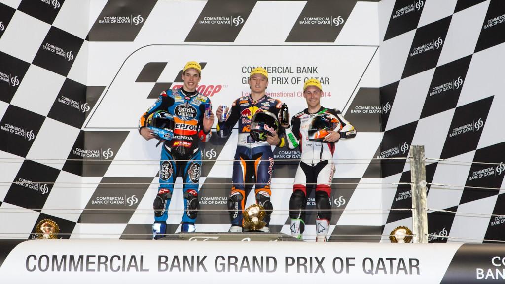 Marquez, Miller, Vazquez, Estrella Galicia 0,0, REd Bull KTM Ajo, SaxoPrint-RTG, QAT RAC