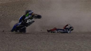 Qatar 2014 - MotoGP - RACE - Action - Jorge Lorenzo - Crash