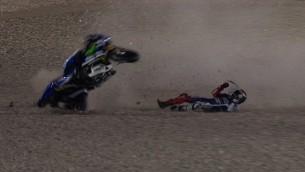 lorenzo reaction after crash in Qatar
