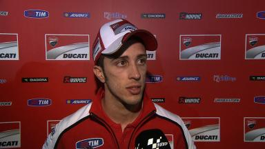 Dovizioso pleased with reduced gap to front