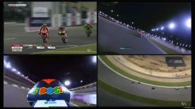 World Champion Marc Marquez started his MotoGP™ title defence with a victory in Qatar, beating Valentino Rossi in a close battle, with Dani Pedrosa coming home third.