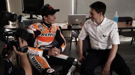 2014年シーズンの第1弾は、ロサイル・インターナショナル・サーキットから2013年王者のマルク・マルケスとCRT王者のアレイシ・エスパルガロのスペシャルインタビューを紹介。