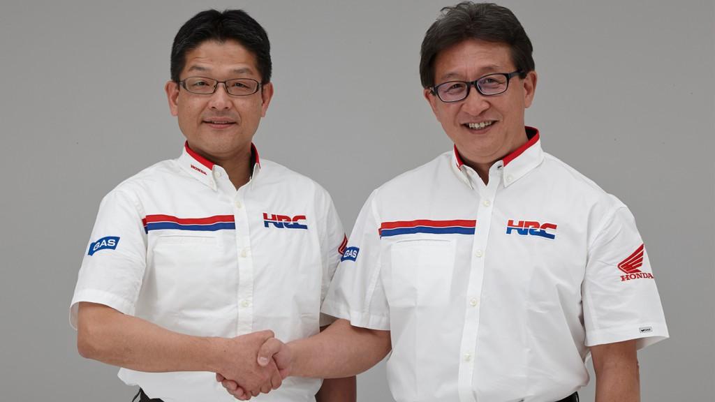 New HRC President Yoshishige Nomura and Tetsuo Suzuki