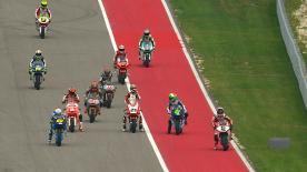 Le leader du Championnat du Monde Moto2™ a battu Johann Zarco in extremis en qualifications, de 0.309s, pour s'emparer de la première position sur la grille du Circuit of the Americas, devant le Français et le Suisse Dominique Aegerter.