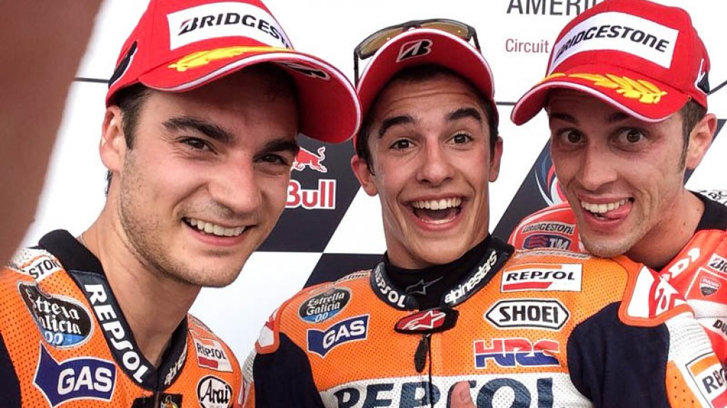 MotoGP podium Selfie