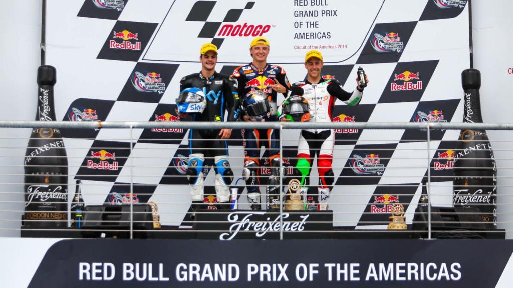 Podium Moto3, Race