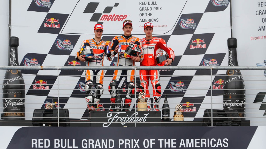 MotoGP podium, Race
