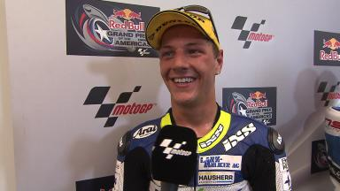 Americas 2014 - Moto2 - RACE - Interview - Dominique Aegerter