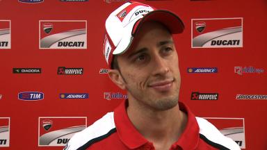 Dovizioso on top five finish in FP