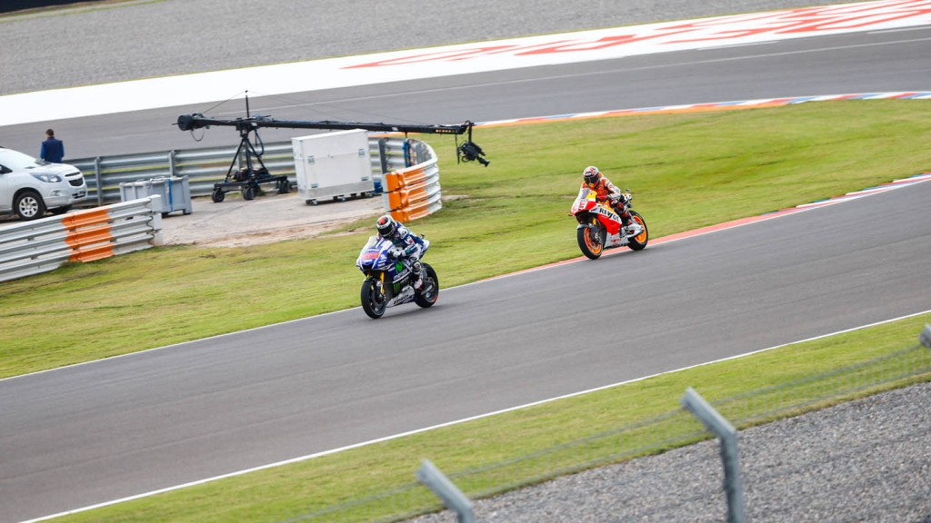 Jorge Lorenzo, Marc Marquez, Movistar Yamaha MotoGP, Repsol Honda Team, ARG FP1