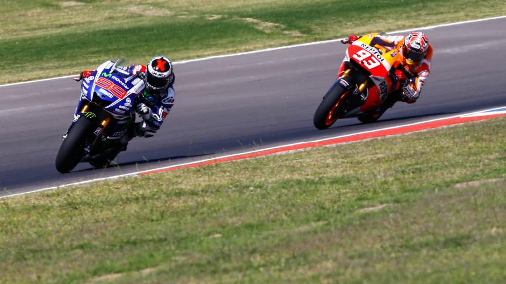 Jorge Lorenzo, Marc Marquez, Movistar Yamaha MotoGP, Repsol Honda Team, ARG RACE