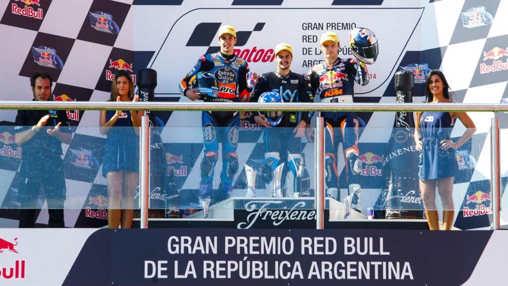 Moto3 Podium, ARG, Race