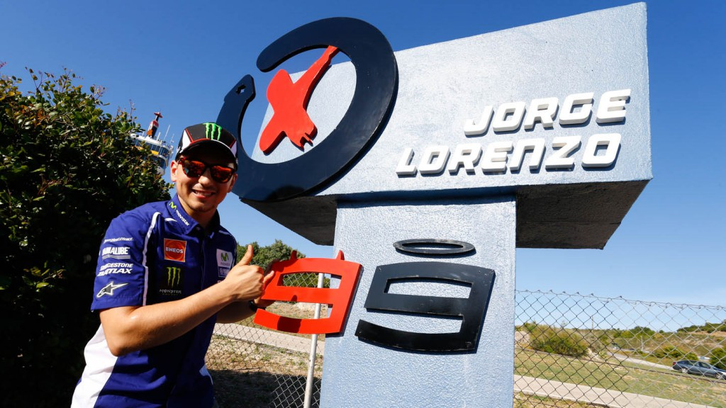 Jorge Lorenzo's monolith at Jerez Circuit