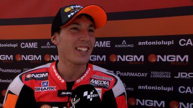 Pace-setter Aleix Espargaro on icy-like conditions
