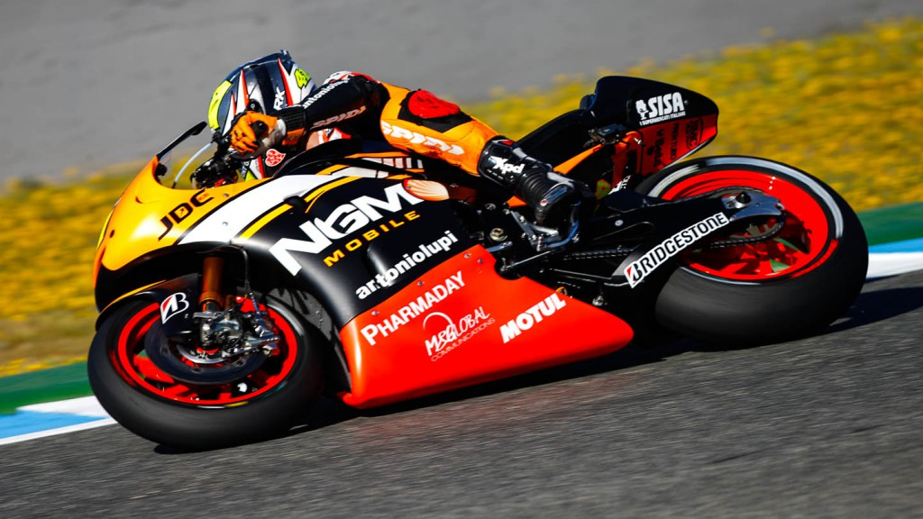 Aleix Espargaro, NGM Forward Racing, SPA FP1