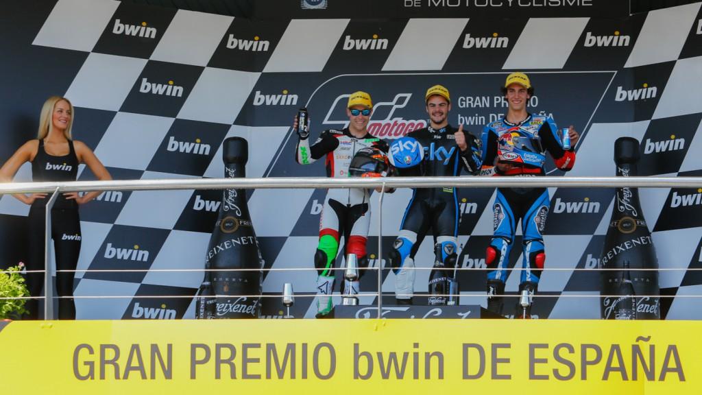 Podium Moto3, SPA RACE
