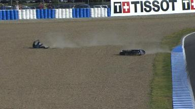 Jerez 2014 - MotoGP - WUP - Action - Danilo Petrucci - Crash
