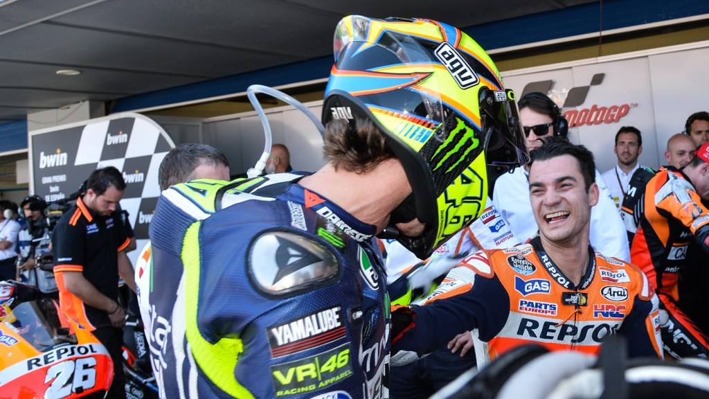 Dani Pedrosa, Valentino Rossi, Repsol Honda Team, Movistar Yamaha MotoGP, SPA RACE