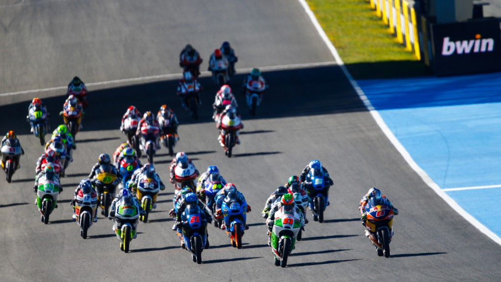 Moto3 Race start, SPA