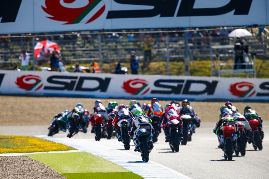 Moto3 Race start, SPA