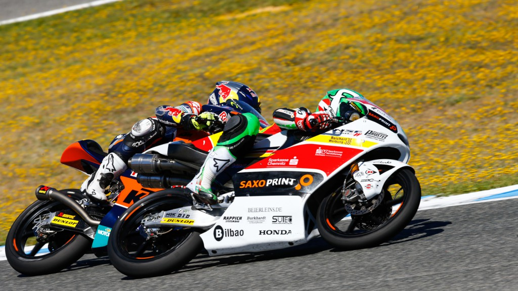 Jack Miller, Efren Vazquez, Red Bull KTM Ajo, SaxoPrint-RTG, SPA RACE