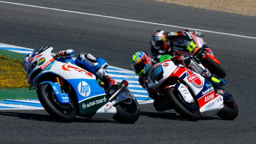 Sandro Cortese, Xavier Simeon, Maverick ViÑales, Federal Oil Gresini Moto2, Pons HP 40, SPA RACE