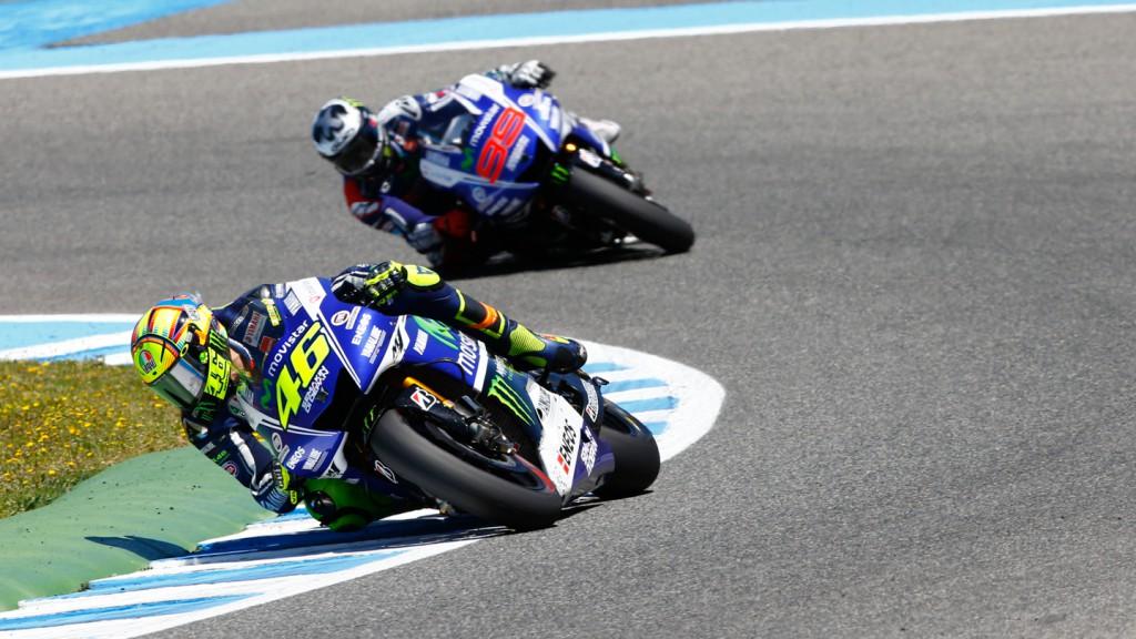 Jorge Lorenzo, Valentino Rossi, Movistar Yamaha MotoGP, SPA RACE