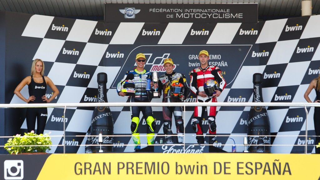 Podium Moto2, SPA RACE
