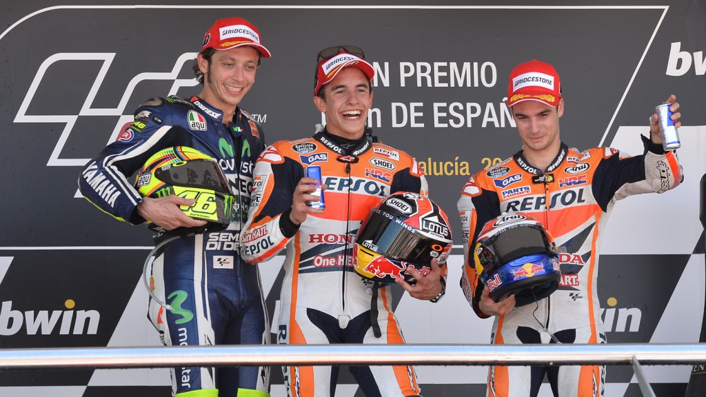 Podium MotoGP, SPA RACE