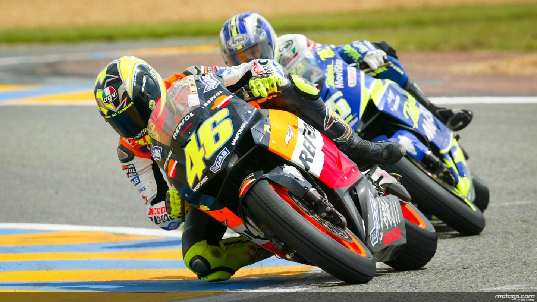 motogp.com · 2003 Le Mans, Valentino Rossi, Sete Gibernau