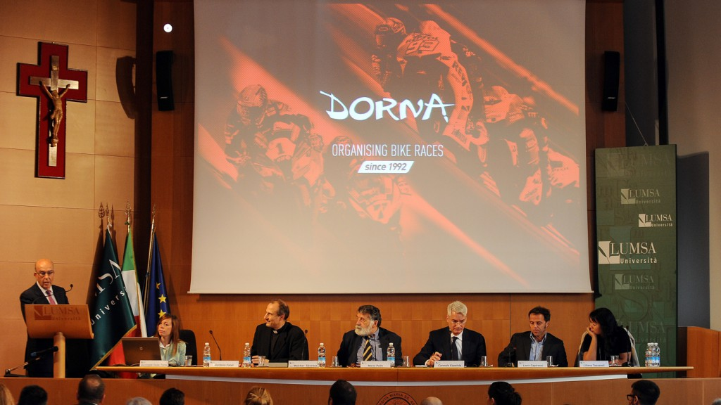 Dorna CEO Carmelo Ezpeleta's conference at Lumsa University, Rome