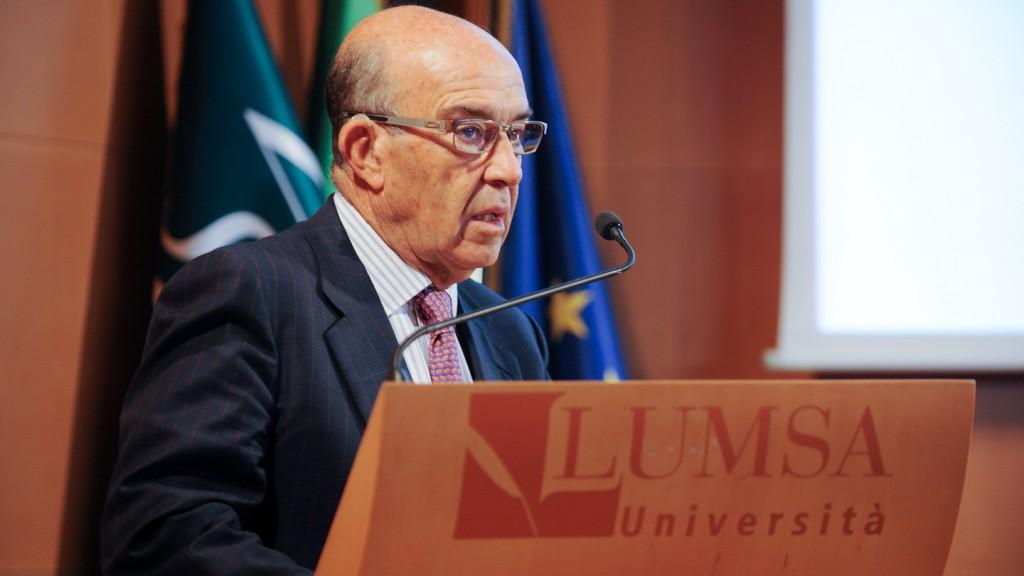 Dorna CEO Carmelo Ezpeleta's conference at Lumsa University, Rome