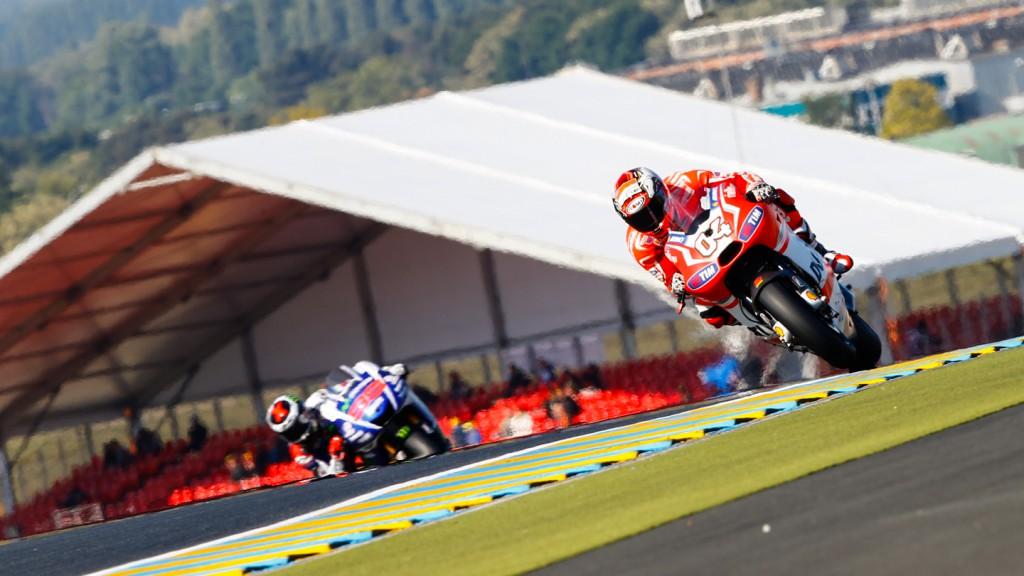 Andrea Dovizioso, Jorge Lorenzo, Ducati Team, Movistar Yamaha MotoGP, FRA FP2