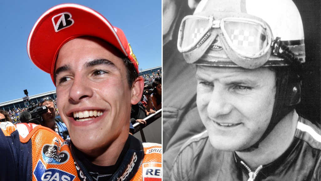 Marc Márquez and Mike Hailwood
