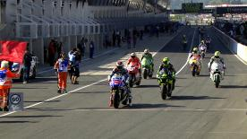As the premier class riders completed their Saturday morning outing at the Monster Energy Grand Prix de France Jorge Lorenzo led the way with a late hot lap, with Marc Marquez and Pol Espargaro also in the top three.