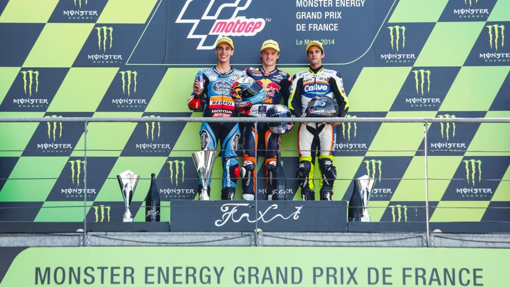 Podium Moto3, FRA RACE