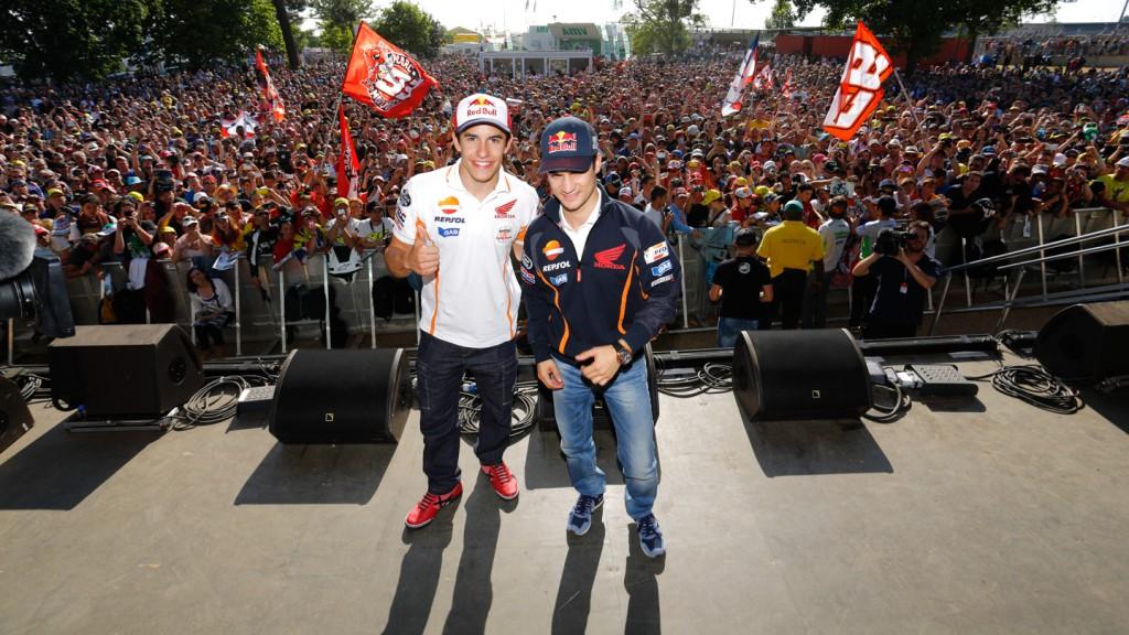 Marc Marquez, Dani Pedrosa, Le Mans' Espace Rencontre