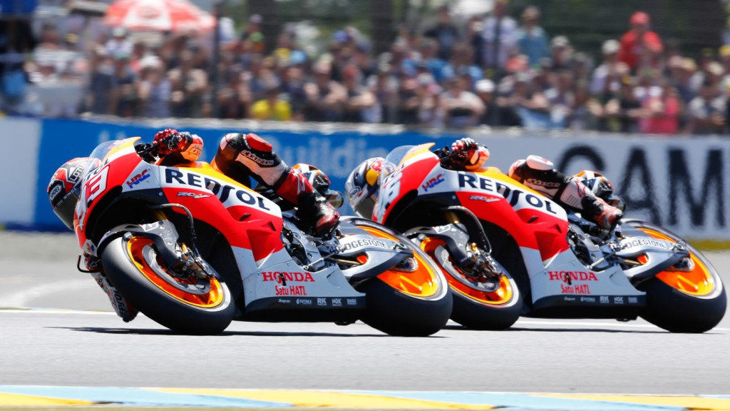 Marc Marquez, Dani Pedrosa, Repsol Honda Team, FRA RACE
