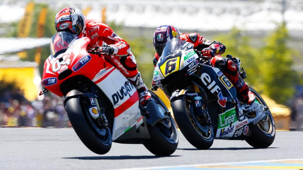 Stefan Bradl, Andrea Dovizioso, Ducati Team, LCR Honda MotoGP, FRA RACE