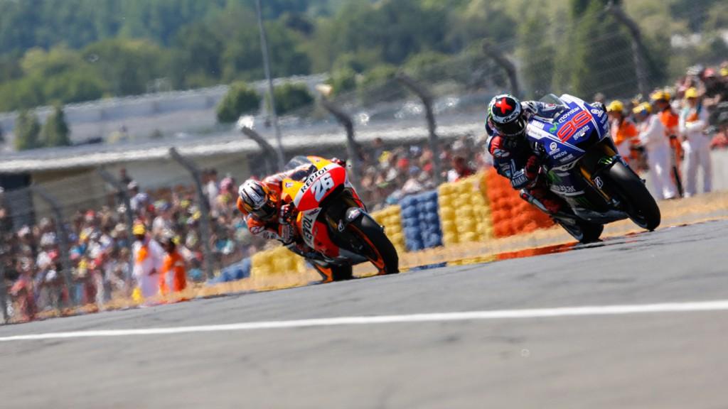 Jorge Lorenzo, Dani Pedrosa, Movistar Yamaha MotoGP, Repsol Honda Team, FRA RACE