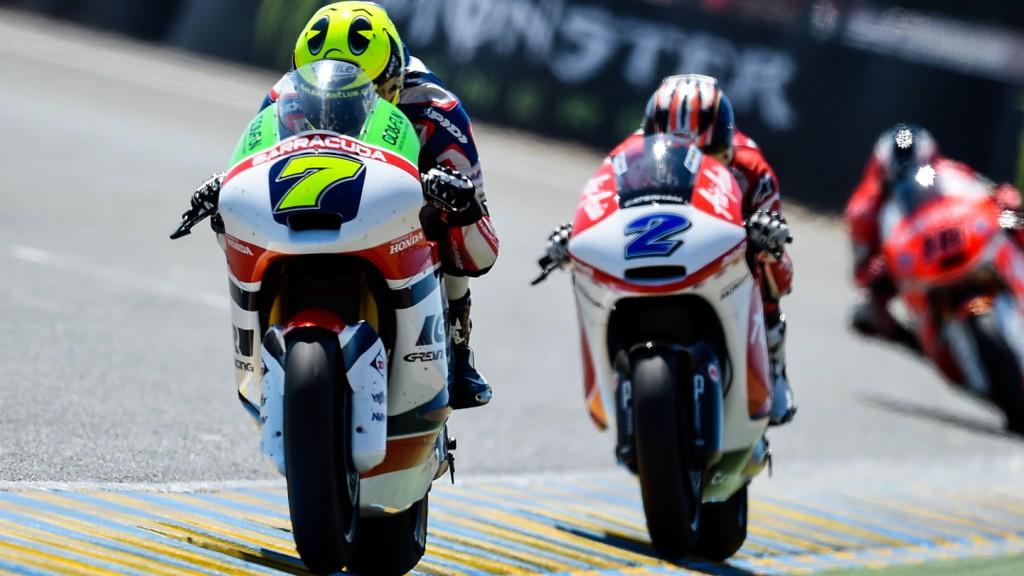 Lorenzo Baldassarri, Josh Herrin, Gresini Moto2, AirAsia Caterham, FRA RACE