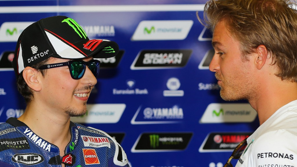 Nico Rosberg & Jorge Lorenzo, Movistar Yamaha MotoGP, FRA RACE