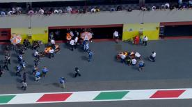 Having taken MotoGP™ pole at the Gran Premio d'Italia TIM on Saturday afternoon Marc Marquez (Repsol Honda Team) heads the grid again for Sunday's sixth race of the year, with Andrea Iannone (Pramac Racing) and Jorge Lorenzo (Movistar Yamaha MotoGP) also featuring on the front row.