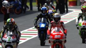 Moto3™ qualifying at Mugello ended with Alex Rins (Estrella Galicia 0,0) outperforming the rest of the field at the picturesque Mugello track, with Jack Miller (Red Bull KTM Ajo) and Jakub Kornfeil (Calvo Team) joining him on the front row.