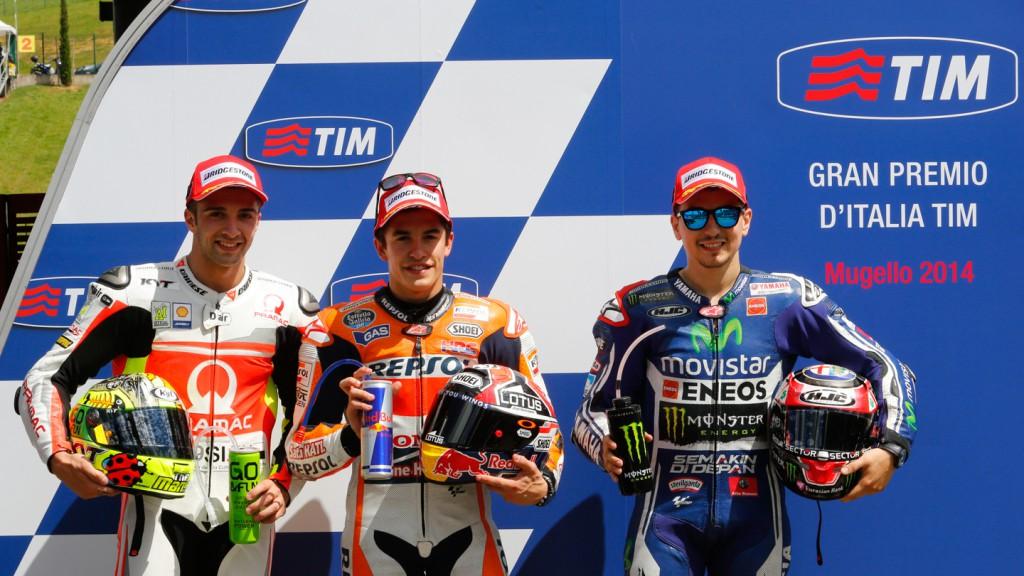 Andrea Iannone, Jorge Lorenzo, Marc Marquez, Pramac Racing, Repsol Honda Team, Movistar Yamaha MotoGP, ITA  Q2