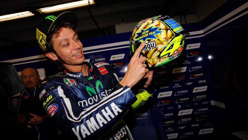 Rossi special helmet for Mugello, Movistar Yamaha MotoGP, ITA
