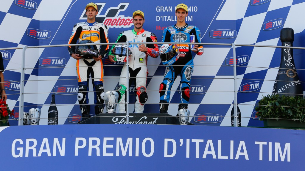 Romano Fenati, Alex Rins, Isaac ViÑales, Calvo Team, Estrella Galicia 0,0, SKY Racing Team  VR46, ITA RACE