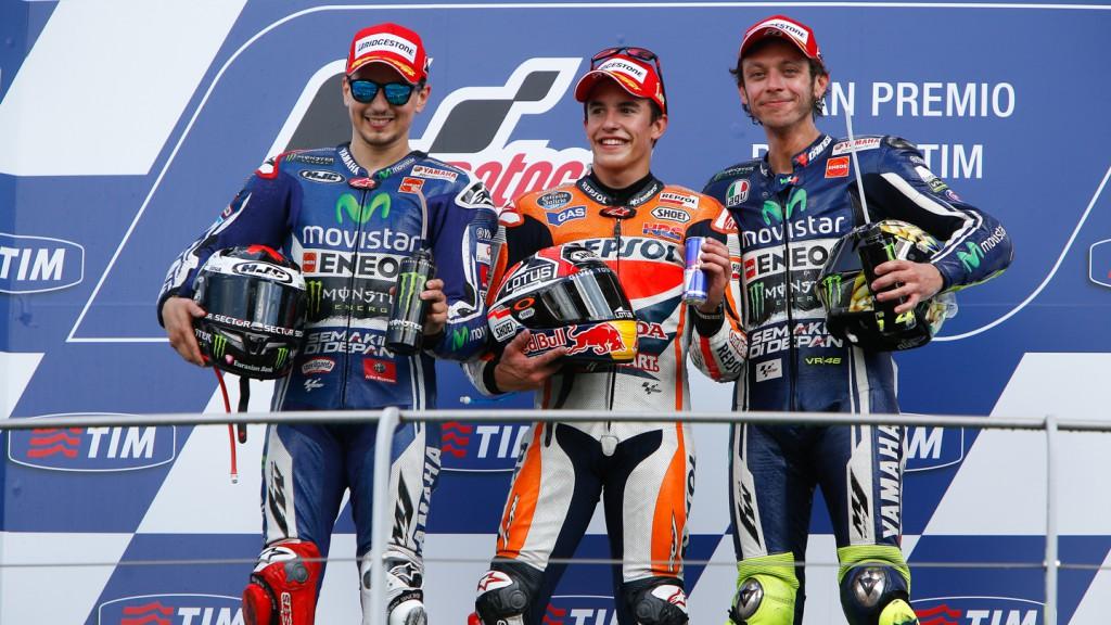 Jorge Lorenzo, Marc Marquez, Valentino Rossi, Movistar Yamaha MotoGP, Repsol Honda Team, ITA RACE